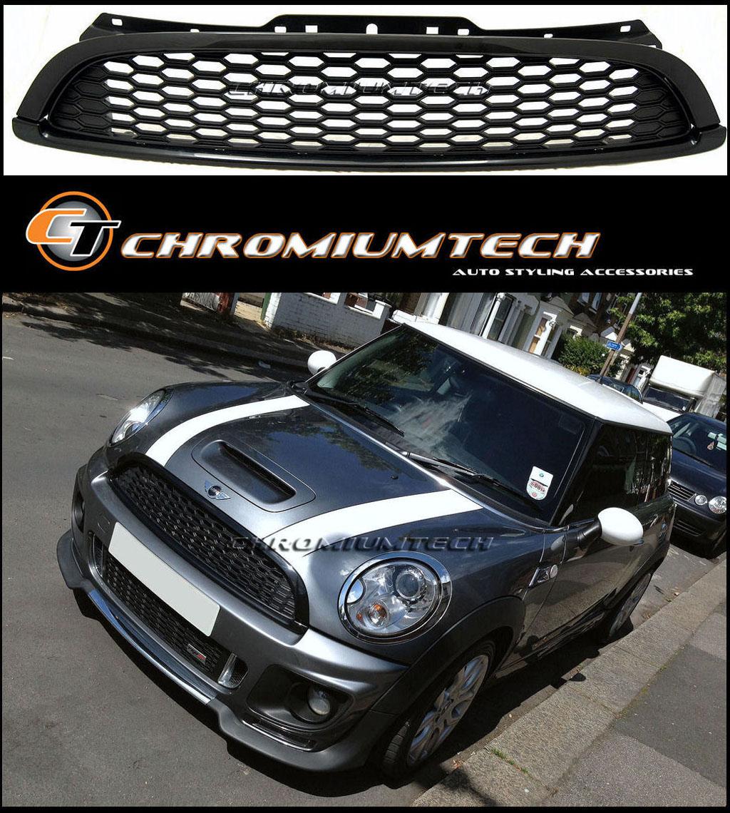 Mini Cooper Clubman Mini Cooper Convertible: Black Grill For 2007-13 MINI Cooper S/SD Clubman R55 Hatch