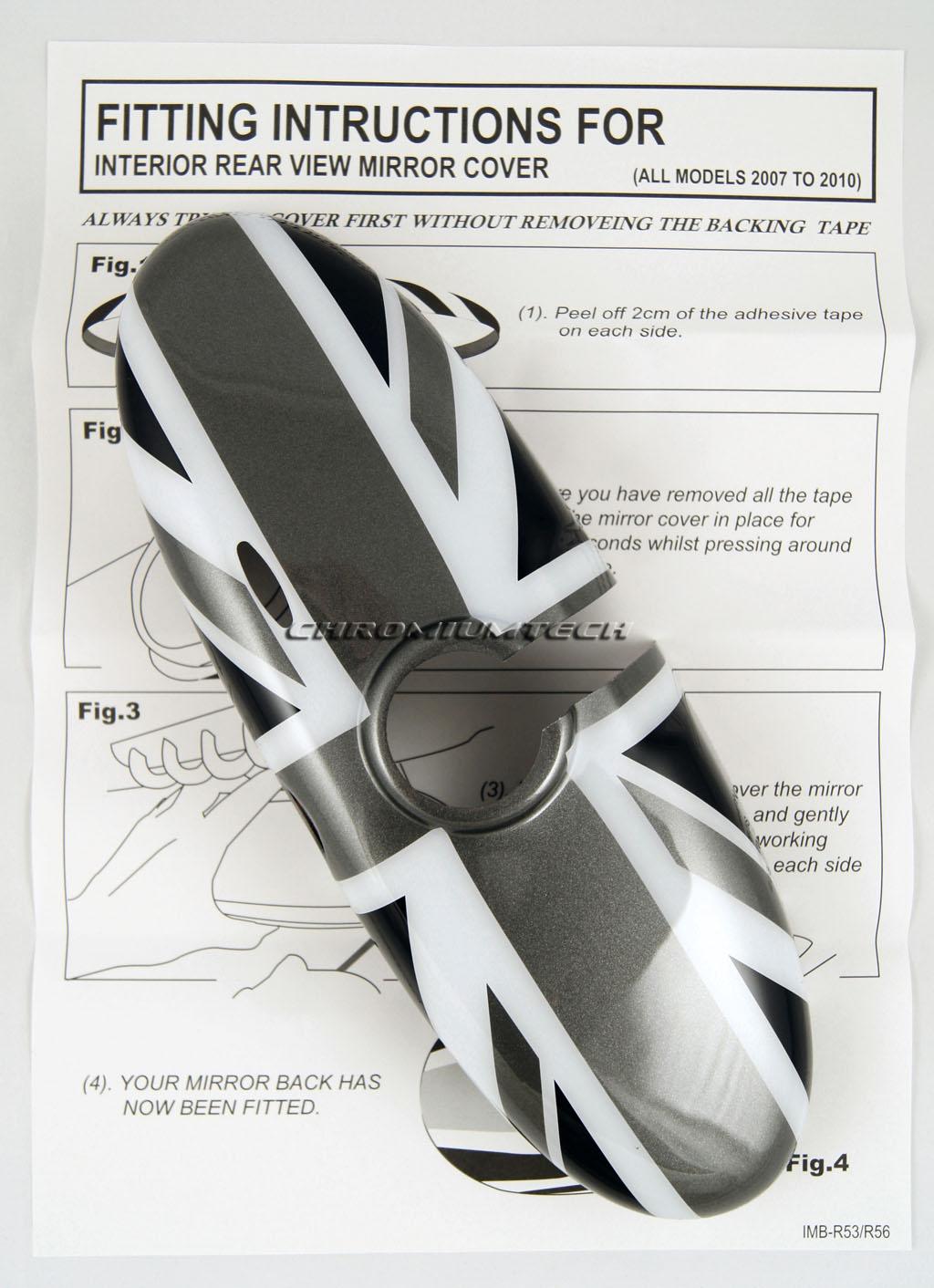 mini cooper s one r56 r57 r60 r61 coque de retroviseur noir union jack ebay. Black Bedroom Furniture Sets. Home Design Ideas