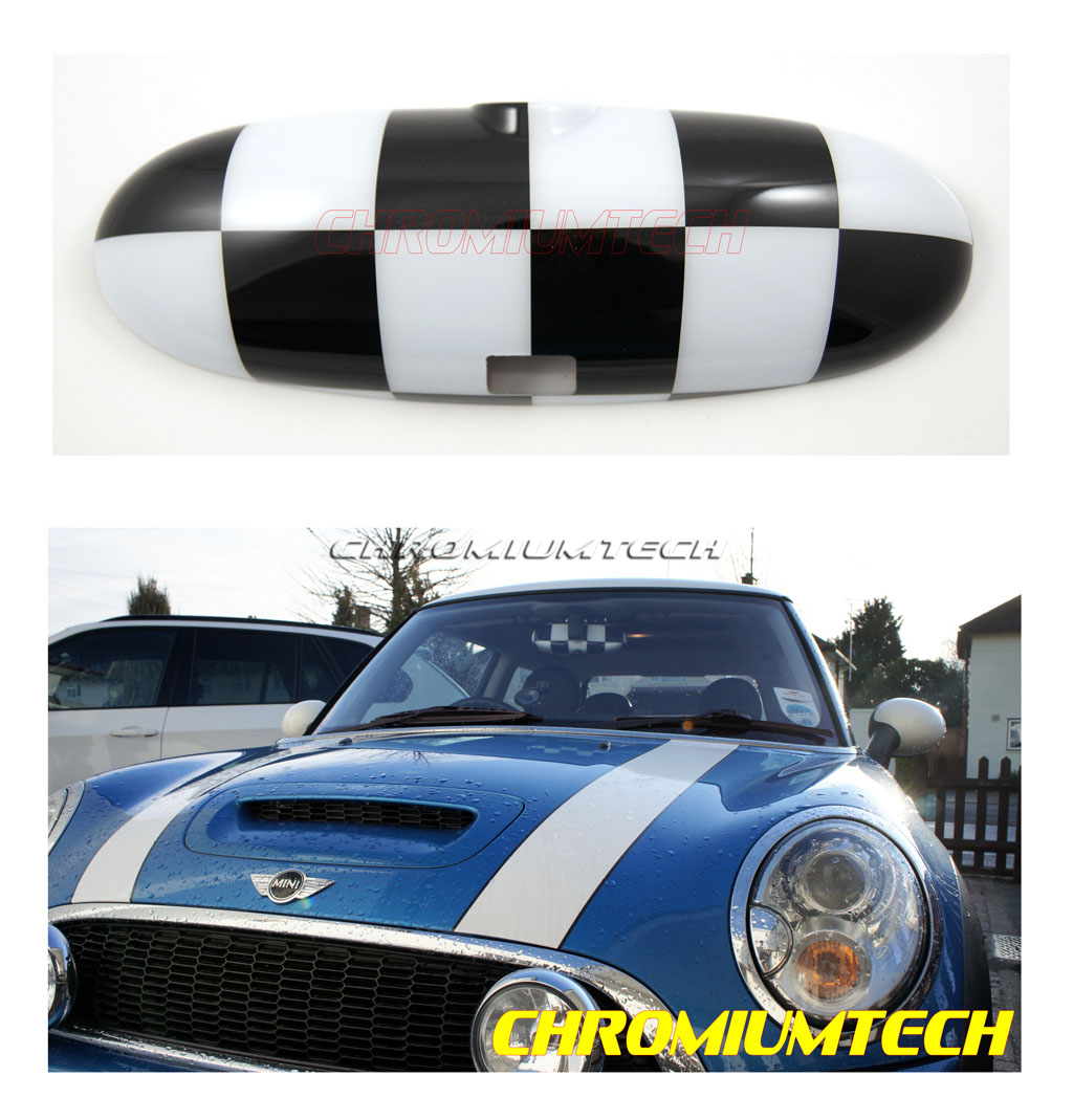 mini cooper cooper s one coque de r troviseur int rieur drapeau carreaux 00 03 ebay. Black Bedroom Furniture Sets. Home Design Ideas