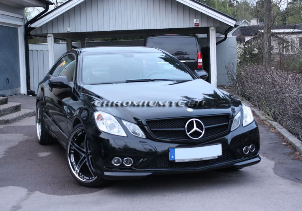 2009 13 mercedes w207 e class coupe all black grill w for Mercedes benz w207