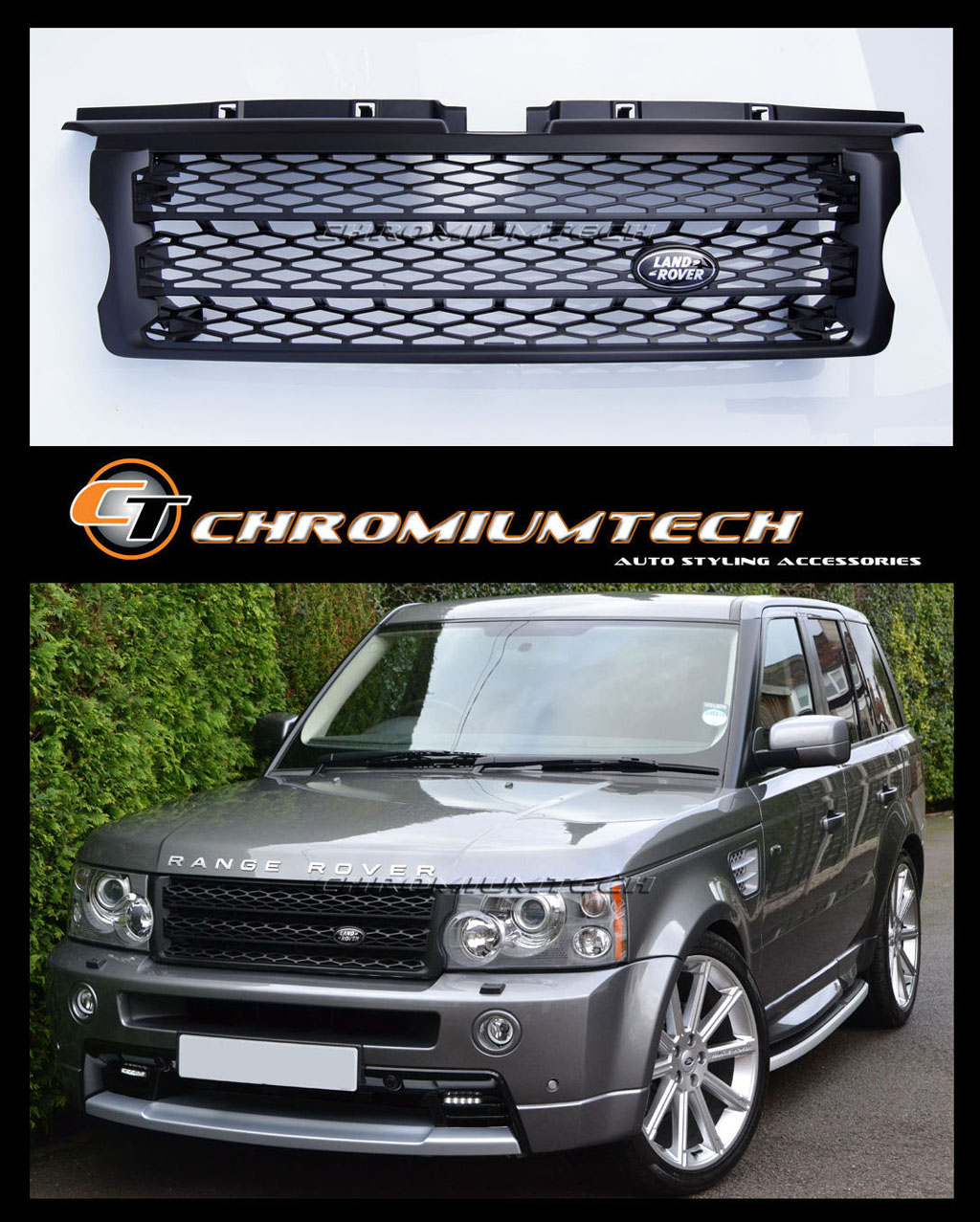 Land Rover 2010 Price: 2005-09 Range Rover SPORT L320 BLACK Grille Supercharged
