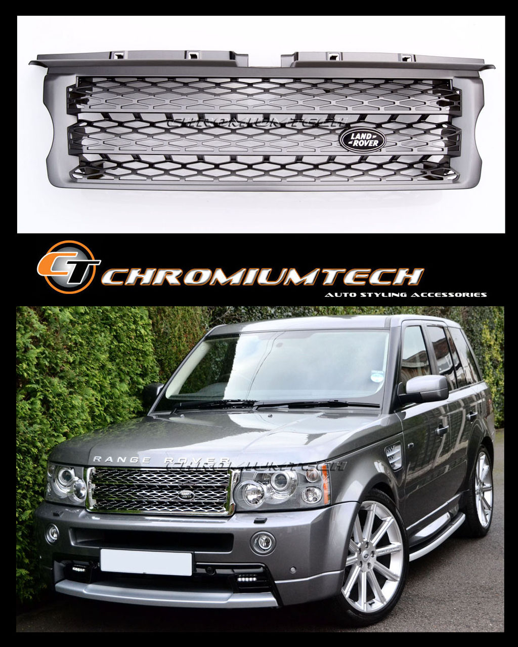 2005-09 Range Rover SPORT GREY Grill Supercharged 2010