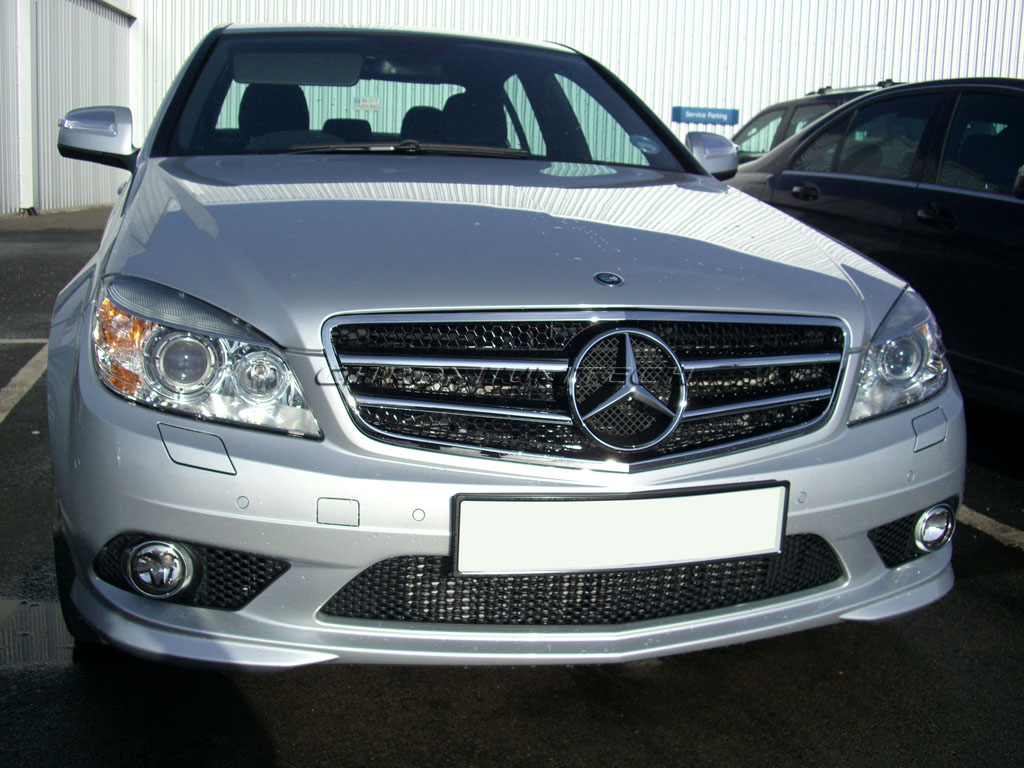 2007 2011 mercedes w204 c class chrome sport grille amg for Mercedes benz c300 grill