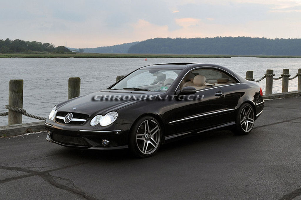 03 09 mercedes w209 clk blk chrome grill clk270 clk320 clk350 clk55 clk65 amg ebay. Black Bedroom Furniture Sets. Home Design Ideas