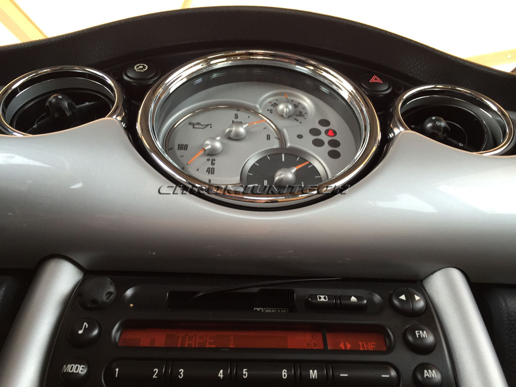 Land Rover Models >> 01-03 MINI Cooper / Cooper S / ONE Chrome Dashboard Interior Dial Kit - Chromiumtech Limited