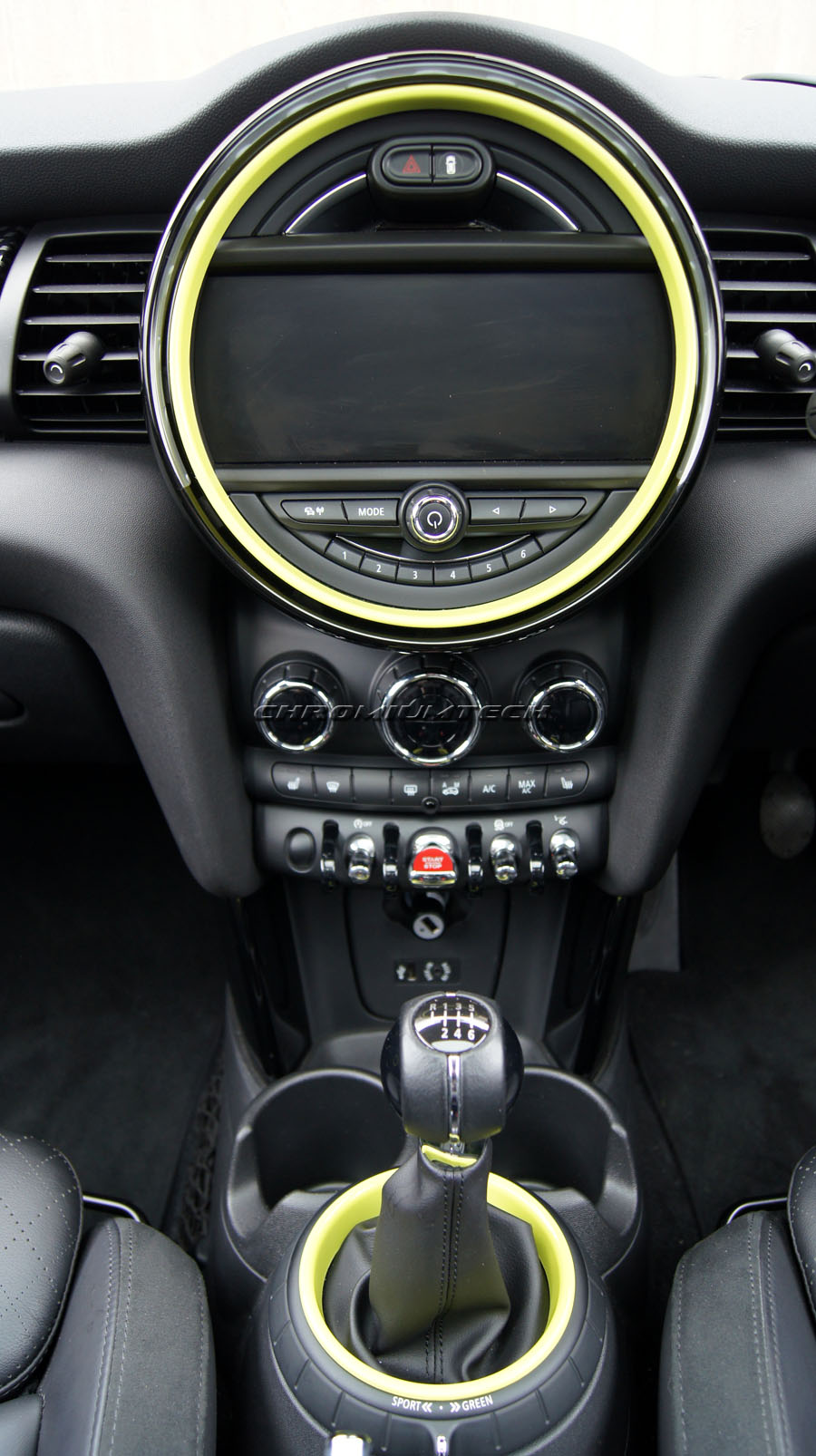 f56 mini cooper s one gelb innenraum ring leiste set f r modelle w navigation xl ebay. Black Bedroom Furniture Sets. Home Design Ideas
