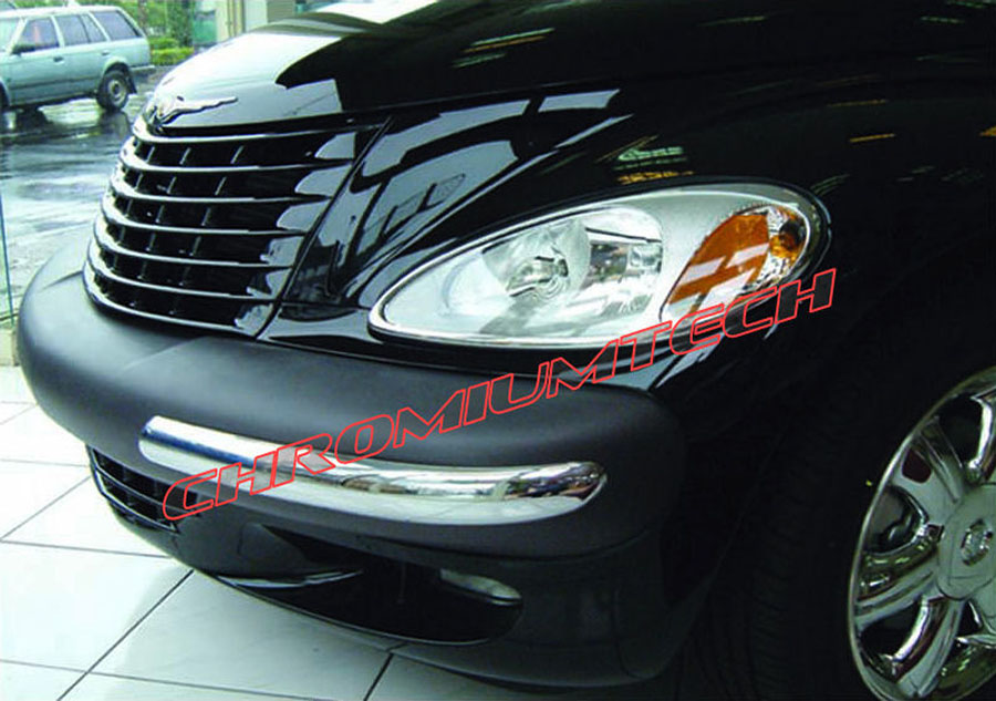 Pt Cruiser Bumpers : Chrysler pt cruiser chrome bumper guard