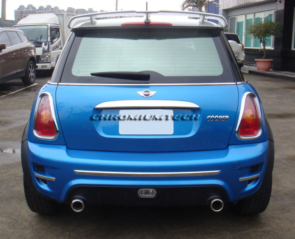 chromiumtech bmw mini cooper cooper s one r50 r53 rear spoiler new just in ebay. Black Bedroom Furniture Sets. Home Design Ideas