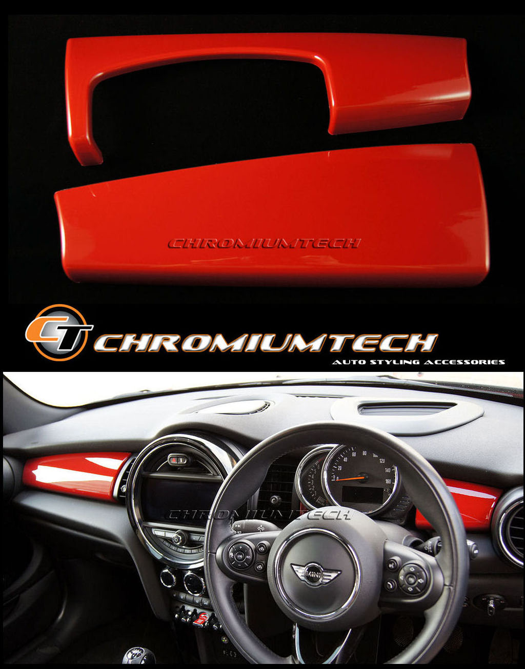 MK3 MINI Cooper//S//ONE//JCW F55 F56 F57 BLACK Dashboard Panel Trim Cover for LHD