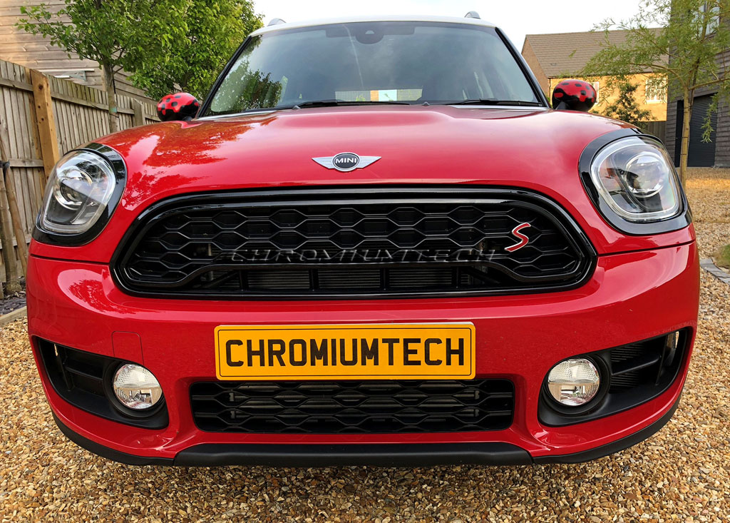 New Mini F60 Countryman Inner Red gloss grille cover JCW look