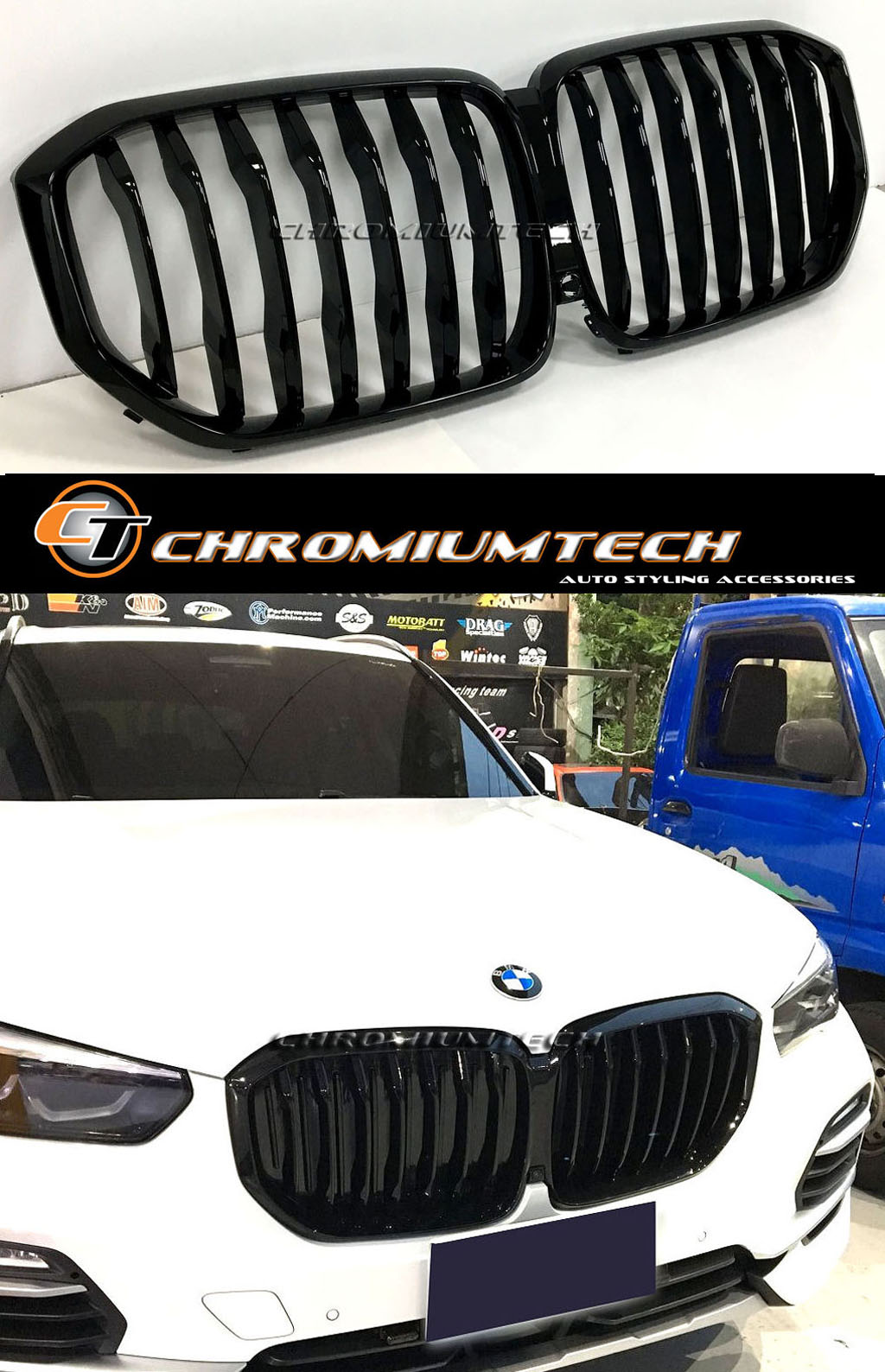 Front Grill Cerium Grey Genuine Original For Bmw G05 M50dx Vehicle Parts Accessories Car Tuning Styling