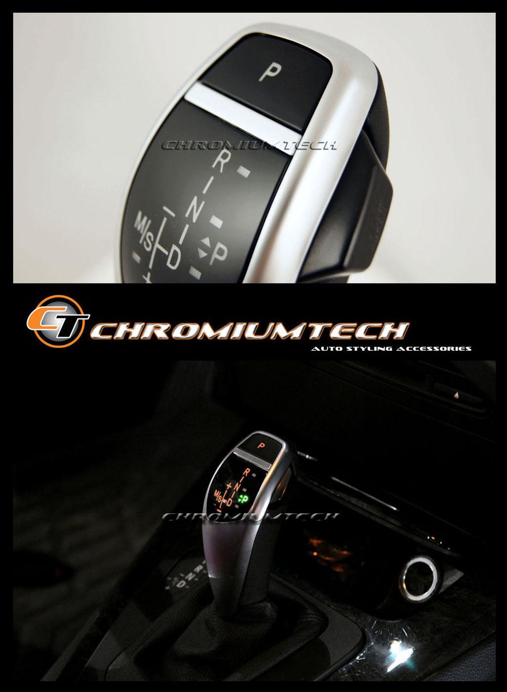 Bmw E90 E92 E87 E84 E82 Silver Led Shift Gear Knob For Rhd