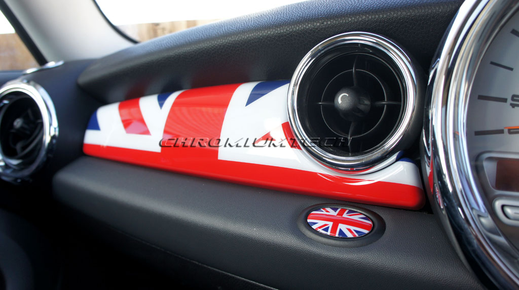mk2 mini cooper s one r55 r56 r57 r58 r59 union jack tableau de bord couvercle ebay. Black Bedroom Furniture Sets. Home Design Ideas