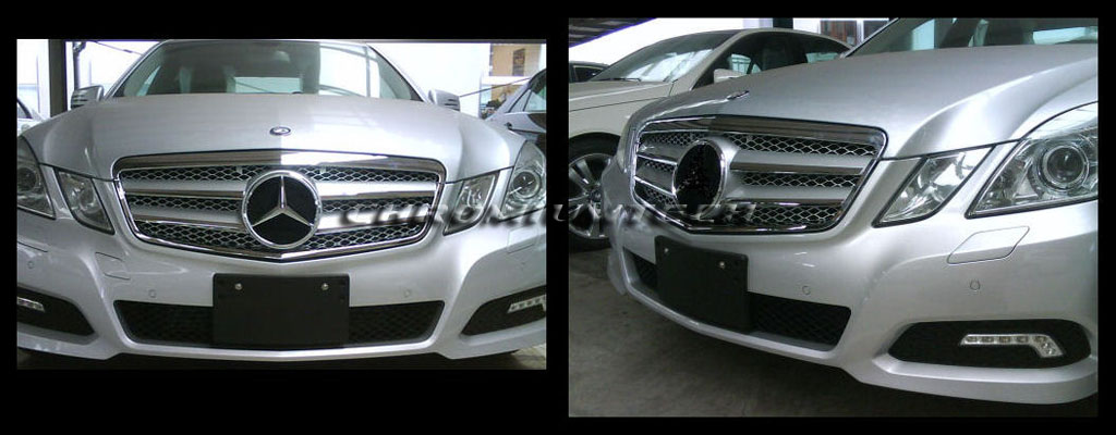 2009 2012 mercedes w212 new e class silver chrome grill. Black Bedroom Furniture Sets. Home Design Ideas