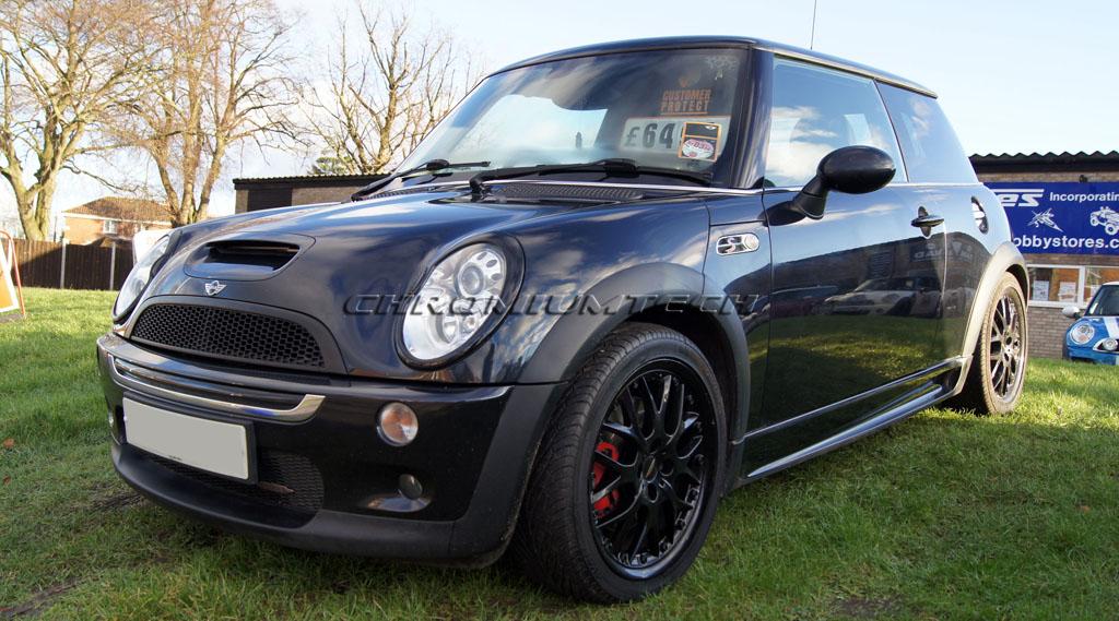 2001 06 mk1 mini cooper s r53 klappe cabrio schwarz xenon frontscheinwerfer rand ebay. Black Bedroom Furniture Sets. Home Design Ideas
