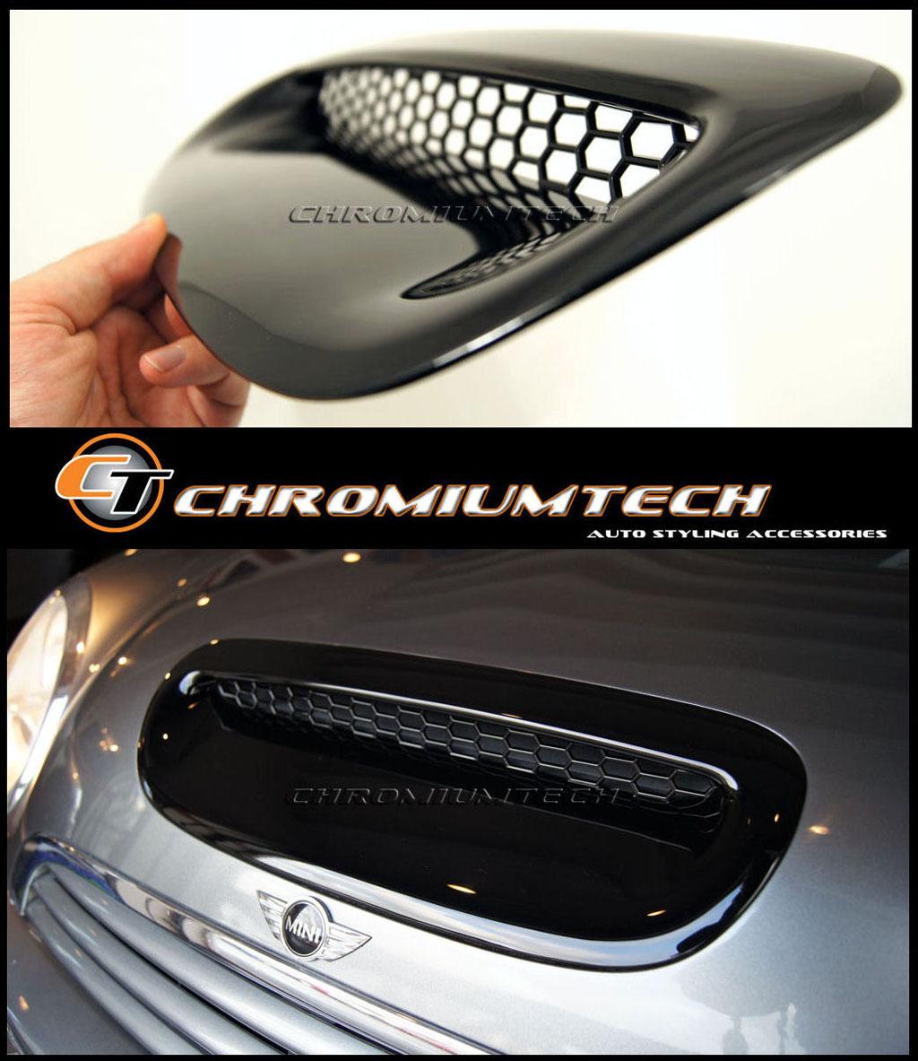 MK1 BMW MINI Cooper S JCW R52 R53 BLACK Bonnet Hood Air