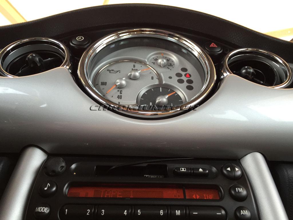 01 06 MINI Cooper/S/ONE/Convertible R50 R52 R53 Chrome Interior Trim Kit  26pc.   EBay