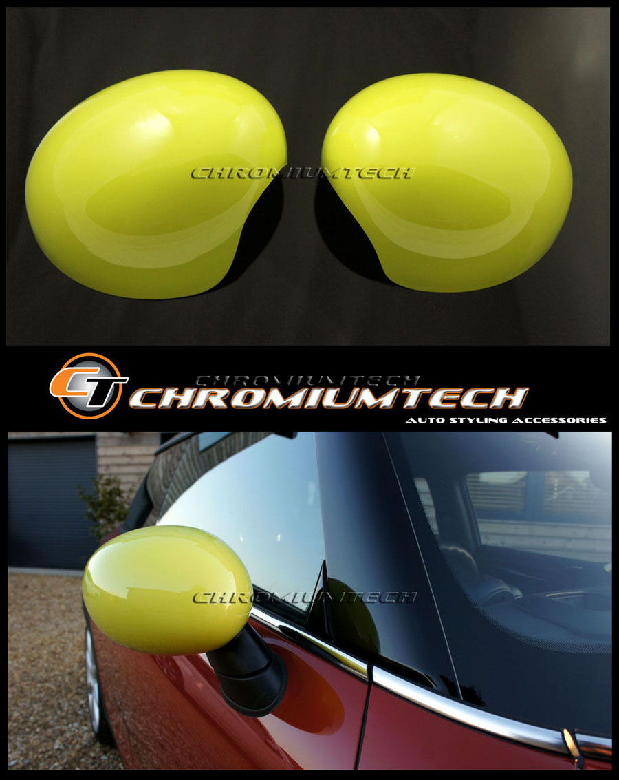 MK3 MINI Cooper//S//ONE//JCW F55 F56 F57 YELLOW Wing Mirror Cap Cover for LHD model